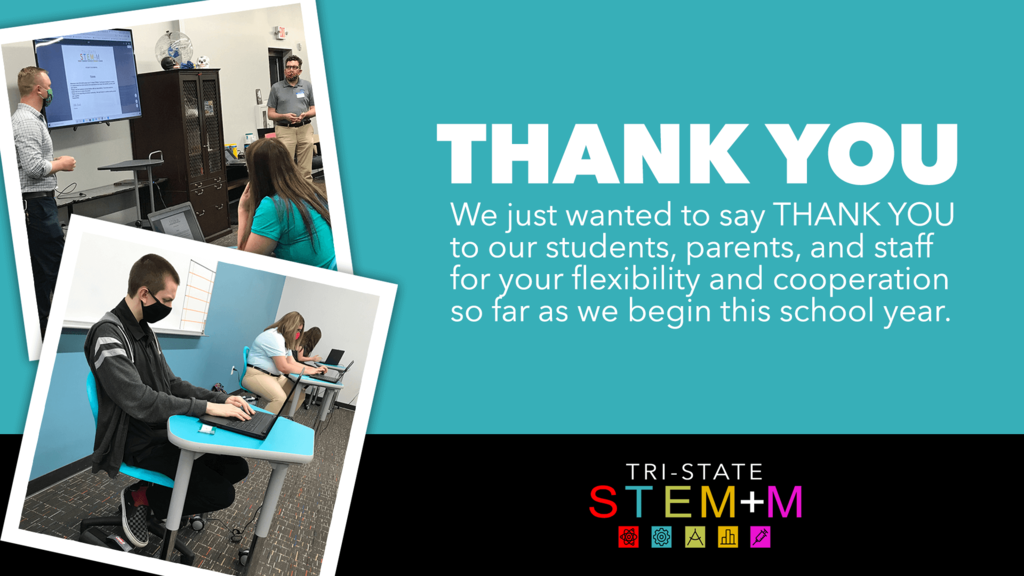 Thank YouWe just wanted to take a minute on this Monday afternoon to say THANK YOU to all of our students, parents, and staff who have been so flexible and cooperative as we've begun our school year. This is a tough time for everyone, but we're determined to make the best of it for our students. Thank you!